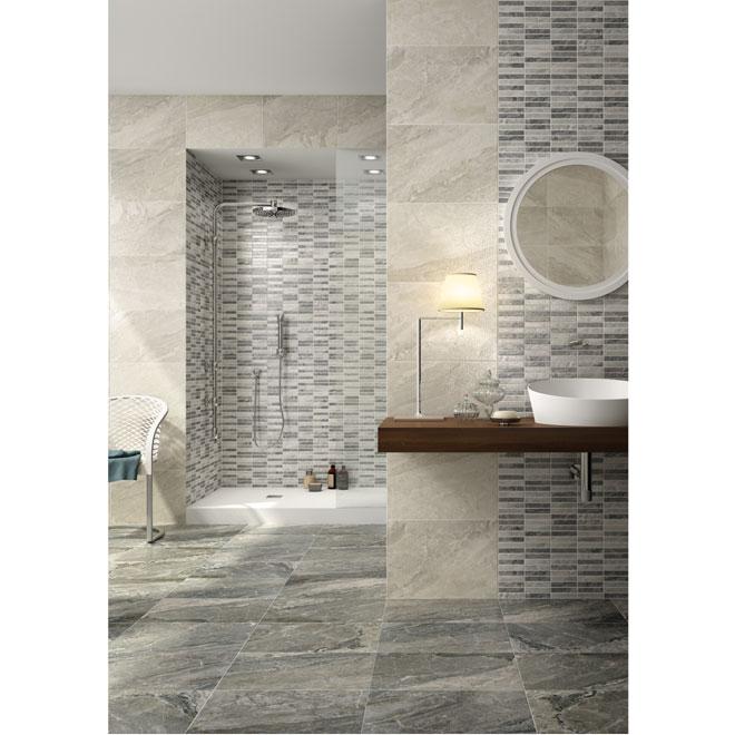 """""""Medea"""" Ceramic Tile - 13,5'' x 13,5'' - 12/box - Grey"""