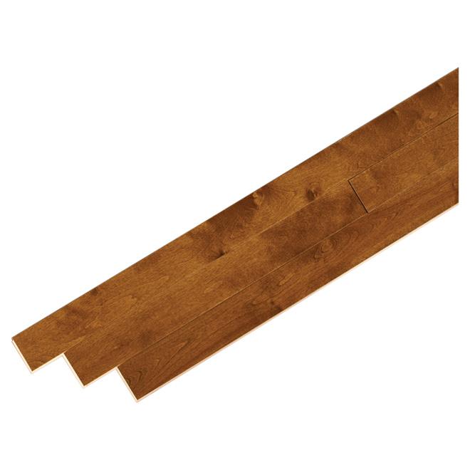 Plancher de bois franc en merisier, 20 pi²,  gunstock