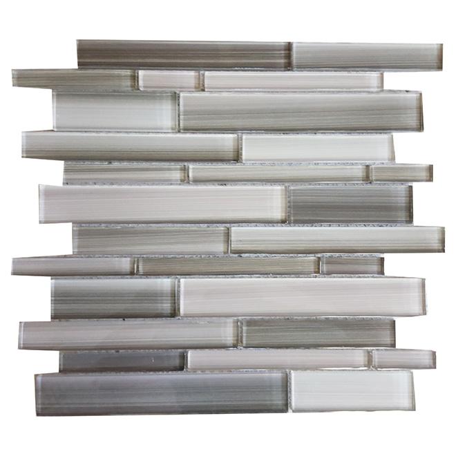 Mosaïque de verre « Skyline », 12 po x 12 po, boîte de 5