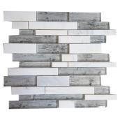 """Roch"" Mosaic Glass Marble Tile - 12"" x 12"" - 5 Box"