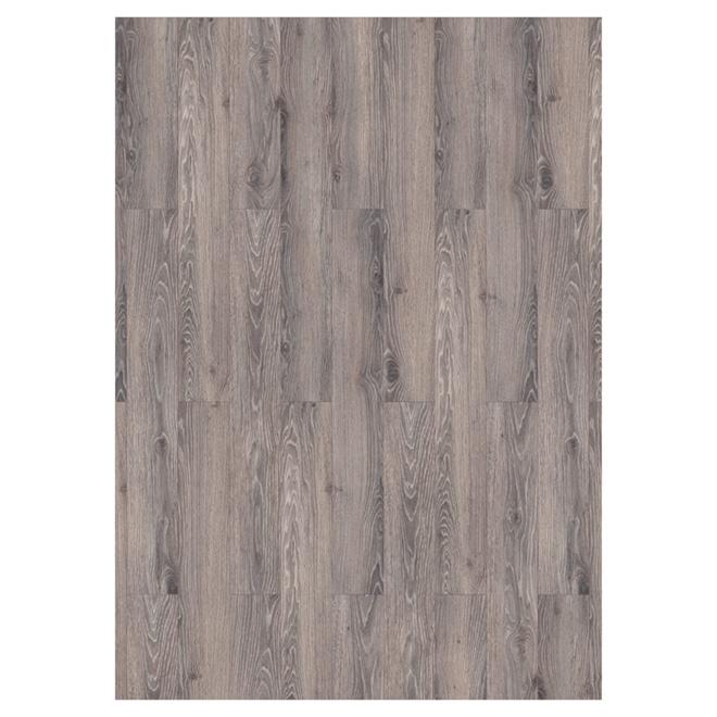 Plancher stratifié en HDF, 17,72 pi², gris pâle