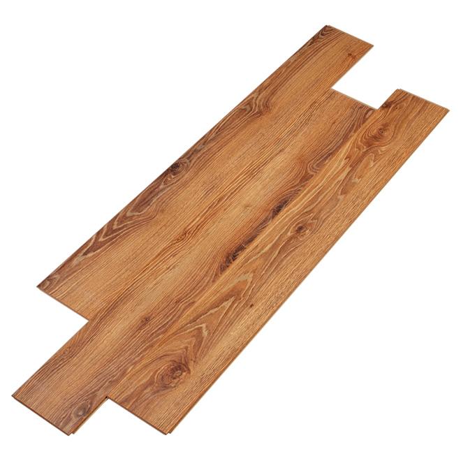 Plancher stratifié 12 mm, brun