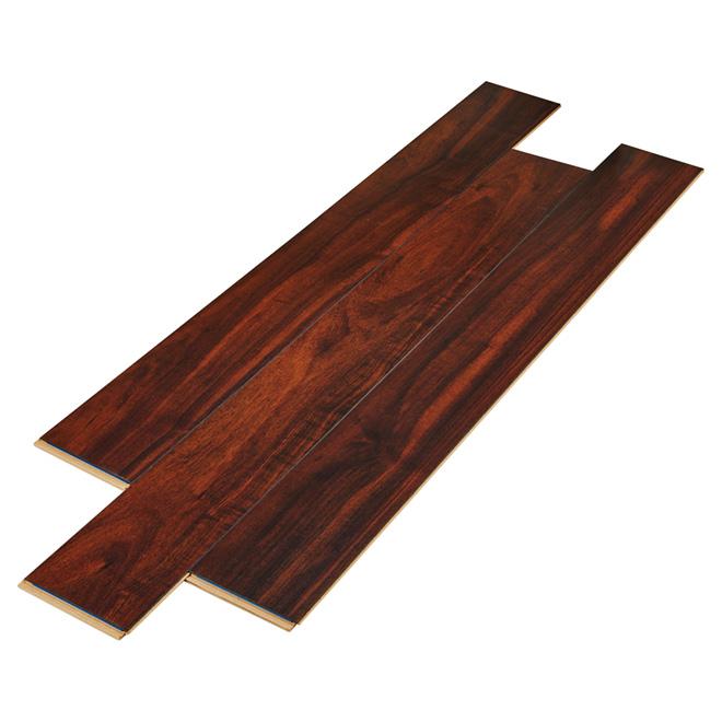 Plancher stratifié en HDF, 12 mm, brun foncé