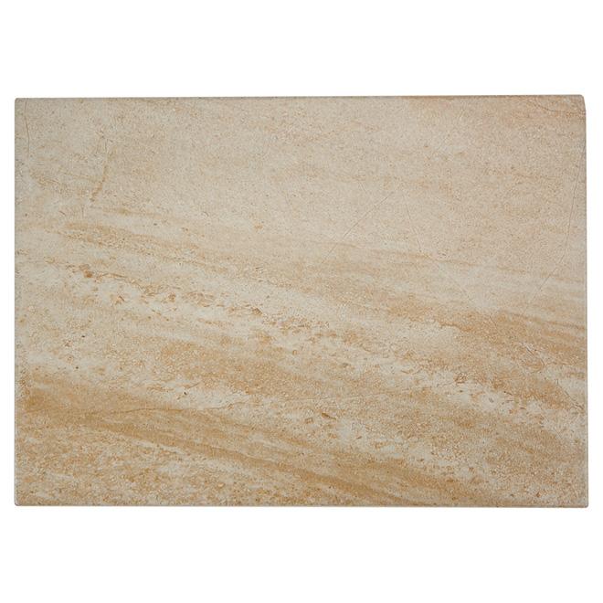 """Tuile de céramique Alpine Stone, 13"""" x 19"""", beige foncé"""