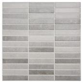 Tuiles de céramique 13,4 x 13,4'', gris, bte de 14