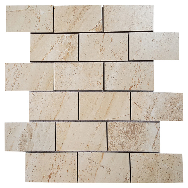 "Denver Porcelain Mosaic 12"" x 12"" - Beige - Box of 5"