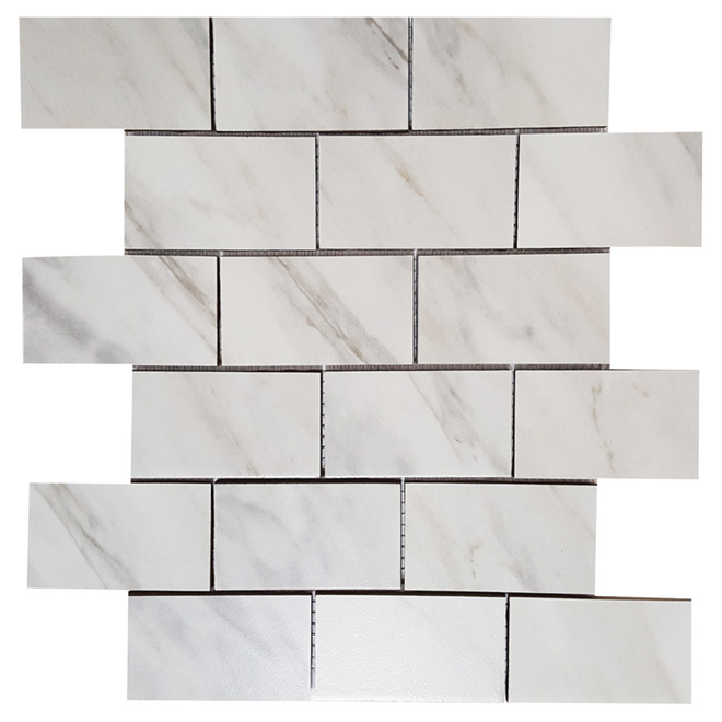 "Porcelain Mosaic 12"" x 12"" - Carrara - Box of 5"