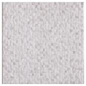 Tuiles de céramique 13,4 x 13,4'', blanc, bte de 14