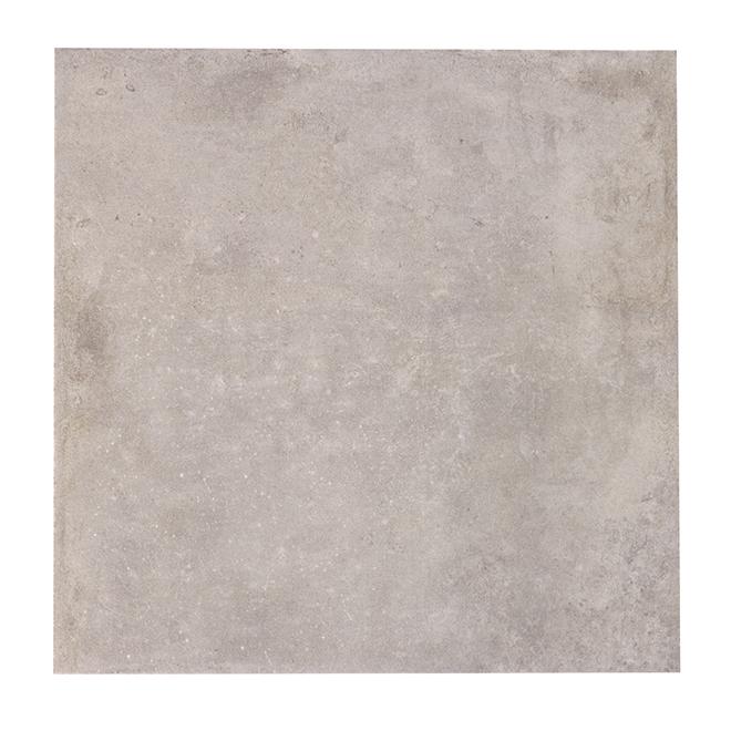 """Carreaux de céramique, 12/boîte, 13,4"""" x 13,4"""", gris"""