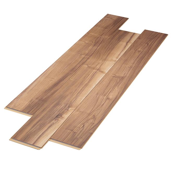 Plancher stratifié en HDF, 10 mm, brun