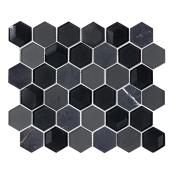 "Glass Mosic Tile - 10"" x 12"" - 5/box - Black"
