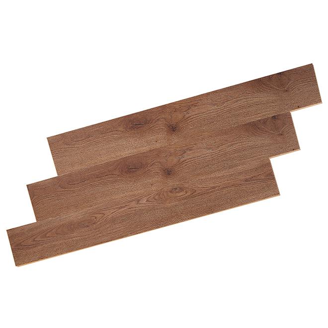 Plancher stratifié, 8 mm, brun