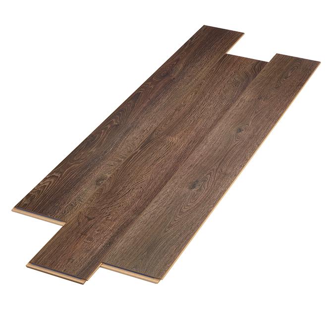Plancher stratifié AC3 en HDF, 12 mm, brun pâle