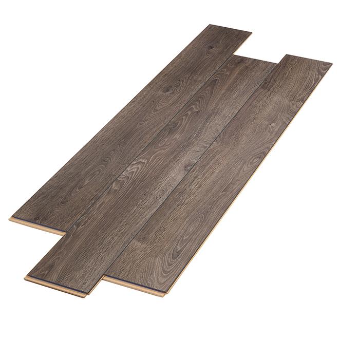 Plancher stratifié AC3 en HDF, 12 mm, gris foncé
