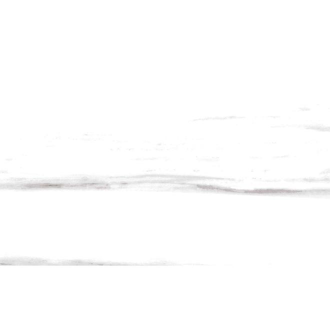 """Céramique murale, 10"""" x 30"""", 7/boite, blanc"""