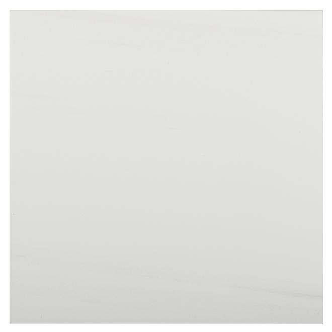"""Tuiles de porcelaine Onice Bianco, 13"""" x 13"""", 12/boîte, blanc"""