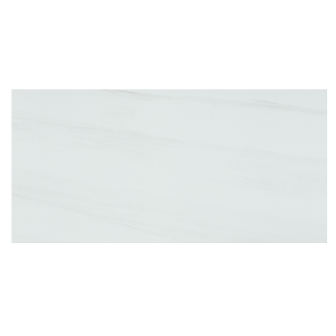 "Onice Bianco Porcelain Tiles - 12"" x 24"" - 6/Box - White"