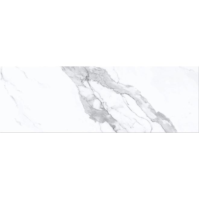 """Tuiles de porcelaine, 4"""" x 12"""", 42/boite, blanc"""