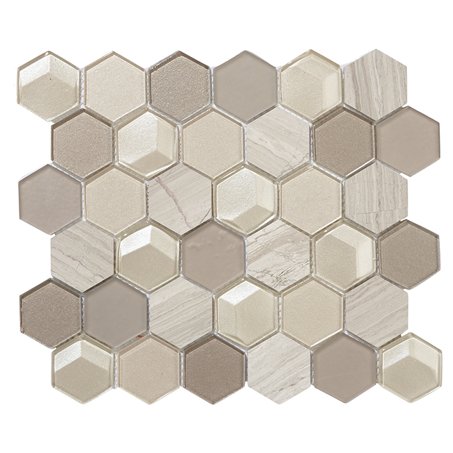 "Mosaic Tiles - 10"" x 12"" - 5/Box - Pearl"