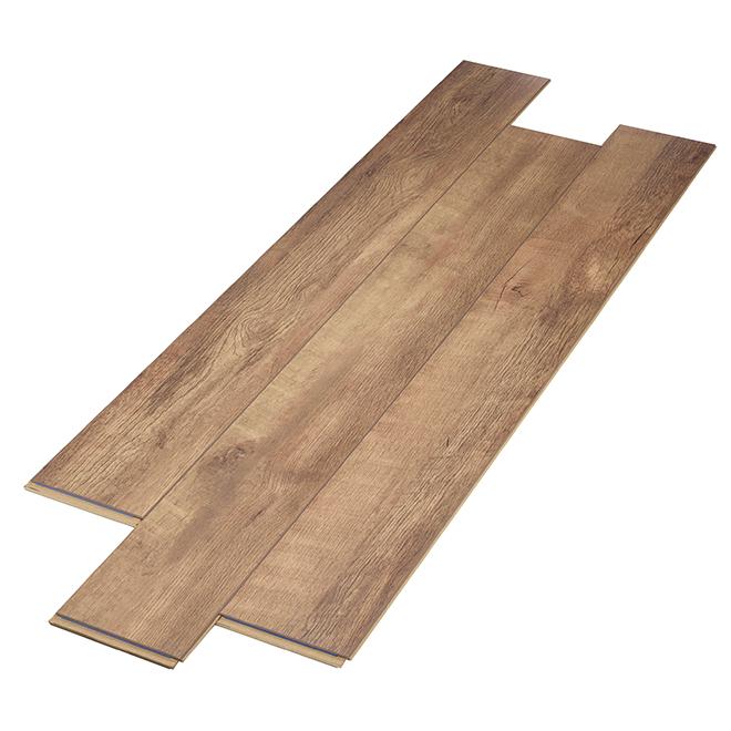 Plancher stratifié AC3 en HDF, 12 mm, châtaigne