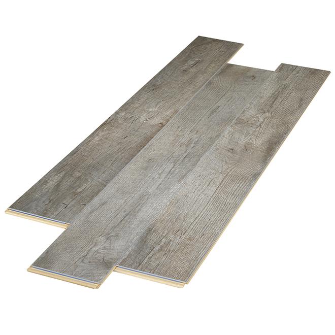 Plancher stratifié AC4 en HDF, 12 mm, gris