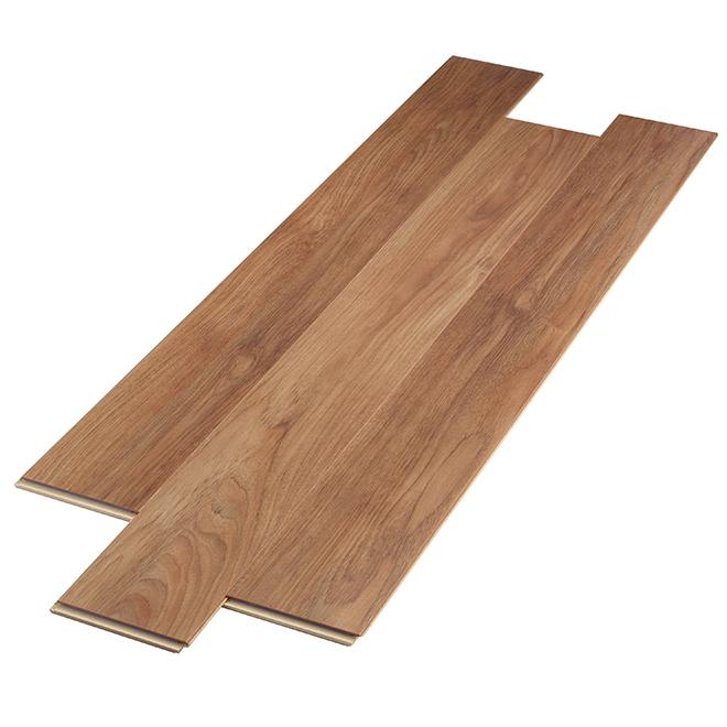 Plancher stratifié AC3 en HDF, 12 mm, Teck