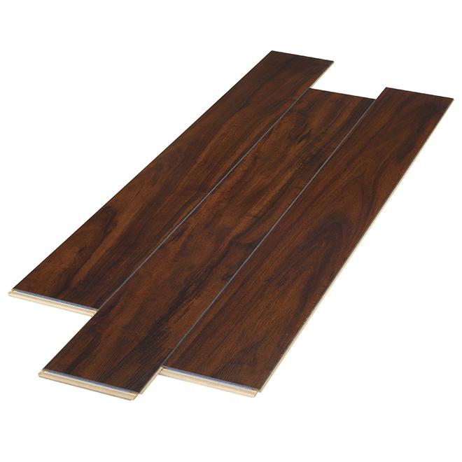 Plancher stratifié AC3 en HDF, 12 mm, brun