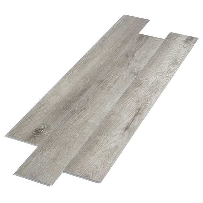 Plancher de vinyle CPS, 4mm, gris, 27,76 pi²/boîte