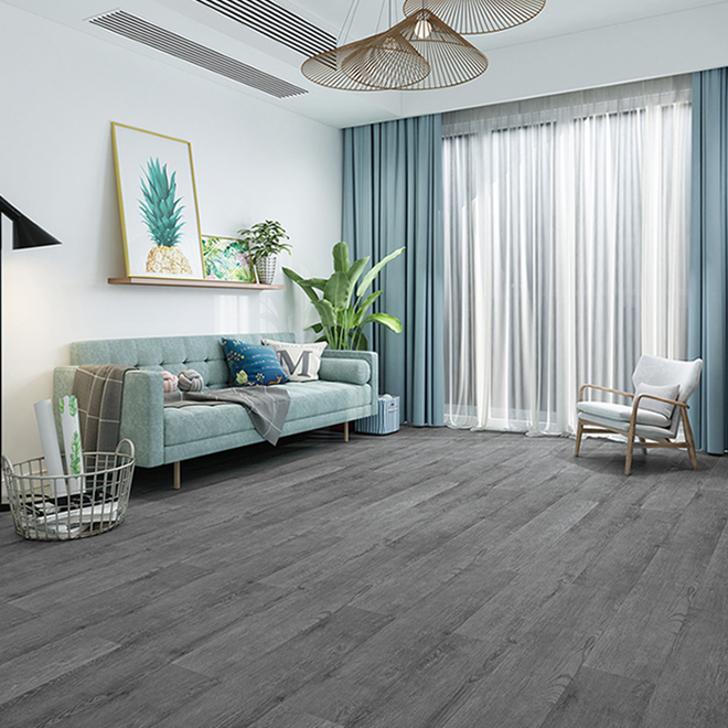 Mono Serra Vinyl Flooring Dark Grey, Gray Vinyl Flooring Living Room