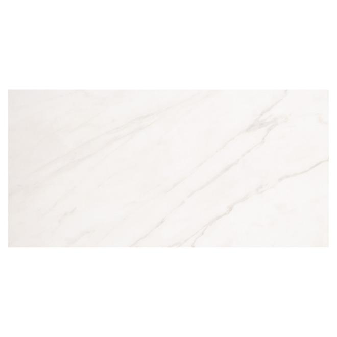 Tuiles de porcelaine rectangulaires Mono Serra, 12 po x 24 po, 8/bte, marbre lustré