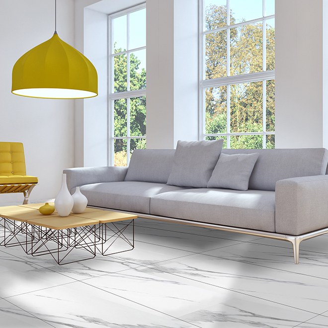 "Mono Serra Rectangular Porcelain Tiles - 12"" x 24"" - 8/Box - Glossy Marble"