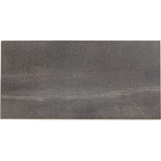 Mono Serra Forum Antracite Porcelain Tiles - 12-in x 24-in - Anthracite - 8/Box