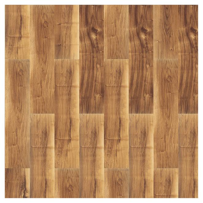 Plancher stratifié Mono Serra en HDF, 17,72 pi², brun beige