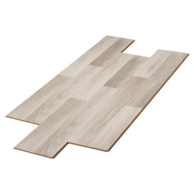 Plancher stratifié Chêne Natura, 24,9 pi², gris-blanc