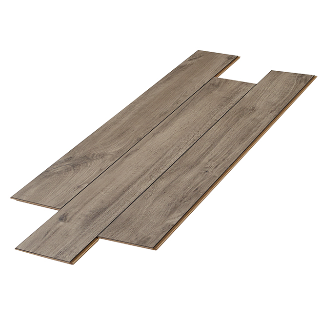 Plancher stratifié 12 mm Burlington, gris-brun, 14,13 pi²