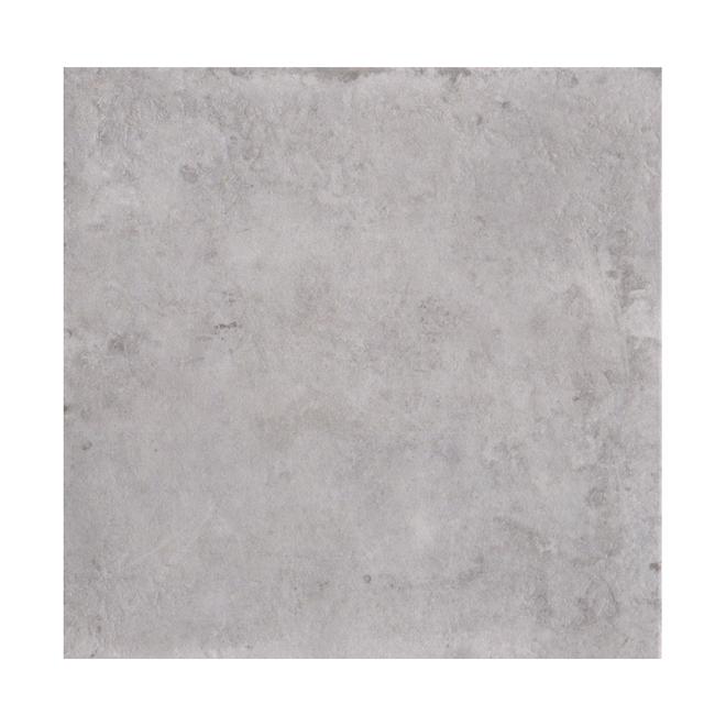 Tuiles de céramique Mono Serra, mur et plancher, 12 po x 12 po, 14 pi², grigio