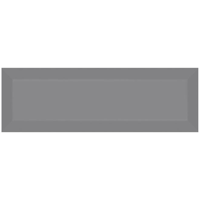 Tuiles de céramique Mono Serra Tiffany de 4 po x 12 po, 8,4 pi², gris lustré, 26/bte