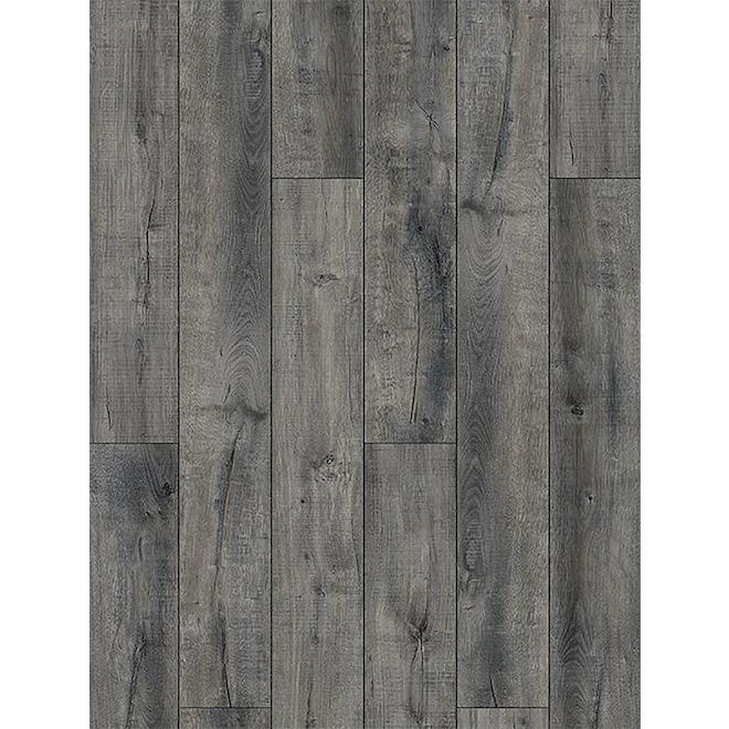 Plancher stratifié Mono Serra Lisbonne en vinyle SPC, 4,3 mm + 1 mm, 23,95 pi²