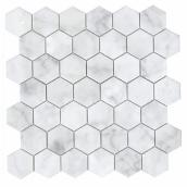 Mono Serra Carrera Hexagon Wall  Porcelain Mosaic - 12-in x 12-in 9.69 sq.ft. per Box