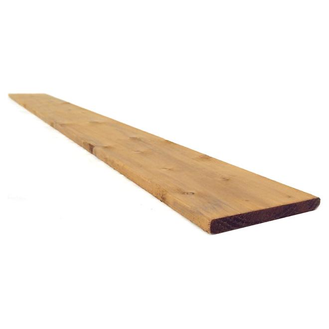 "Select Treated Wood - Brown - 1"" x 6"" x 6'"
