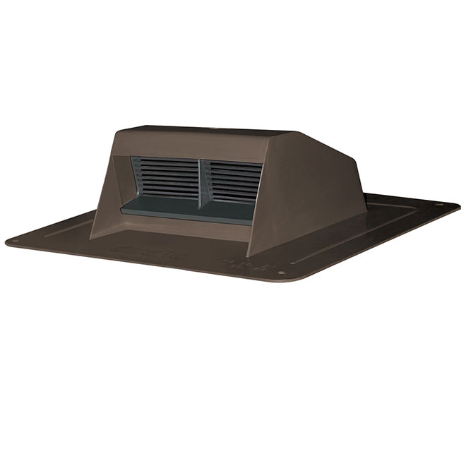Canplas Brown Plastic Roof Vent Exhaust with Flapper 6008BR