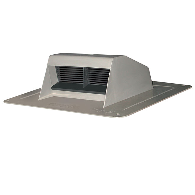 Canplas White Plastic Roof Vent Exhaust with Flapper 6008WW