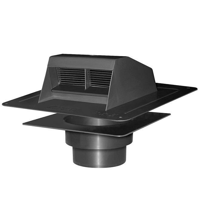 Canplas Black Plastic Roof Vent Exhaust 6010BL