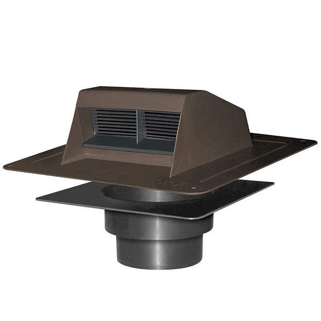 Aérateur de toit en plastique brun