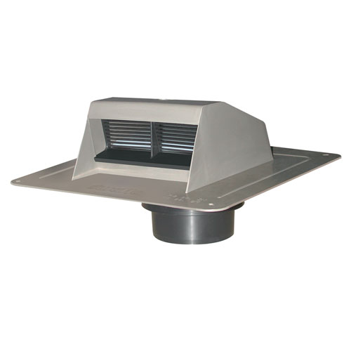 Canplas Grey Ventilation Plastic Roof Vent Exhaust with Flapper 6008G