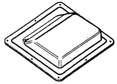 Évent pour toit à pente forte 17 1/4 po x 18 1/4 po, gris