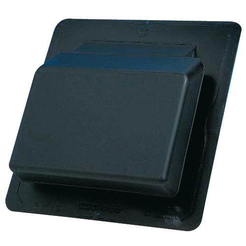 """Slantback Steep Roof Vent 17 1/4"""" x 18 1/4"""" -Black"""
