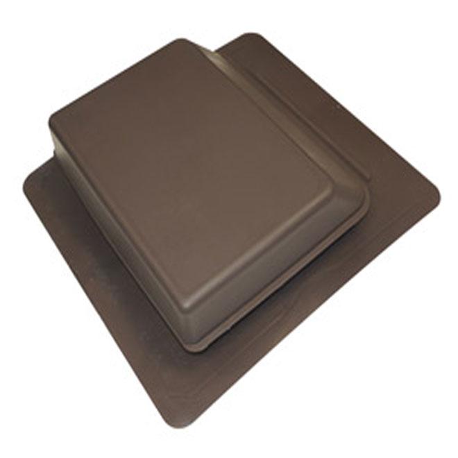 Évent pour toit à pente forte 17 1/4 po x 18 1/4 po, marron
