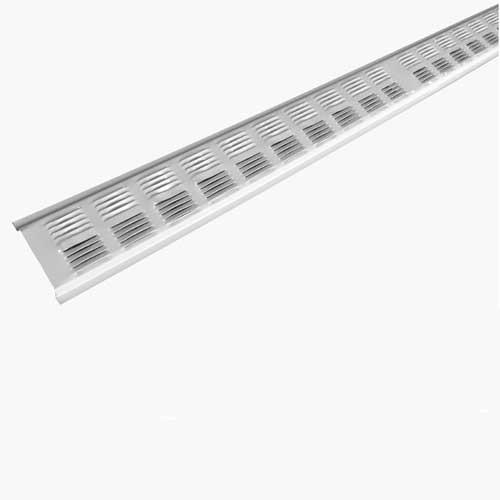 Évent de soffite en métal 8 po, blanc