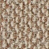 Pinstripe Berber Carpet - Brown/Cream - 12' Width
